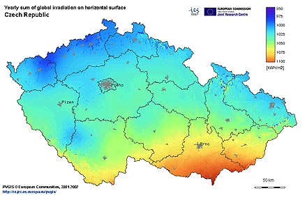 Ceske Slunce Solarni Panely Solarni Systemy Solarni Mapa Ekologie